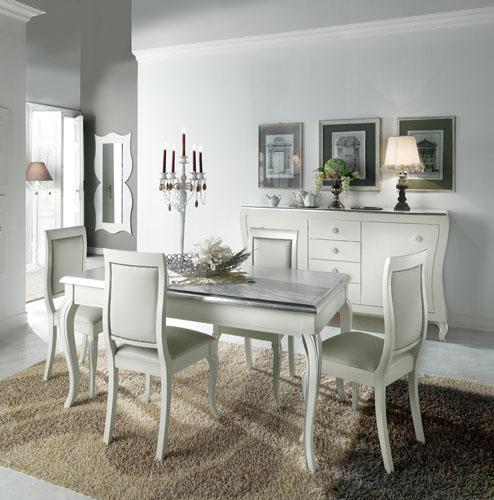 Sala con credenza tavolo sedie tutto sagomato arredi predosa - Tavolo con sedie offerte ...