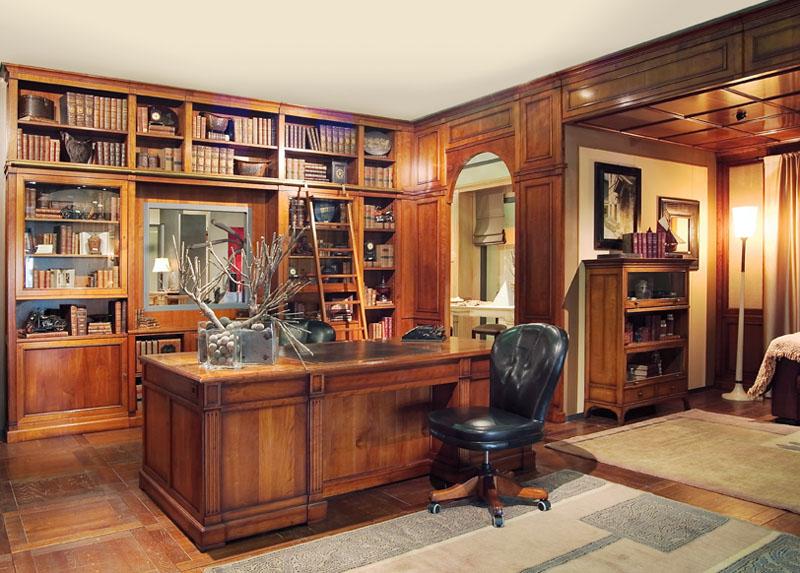 Libreria classica libreria studio 11 arredi predosa - Arredamento studio casa classico ...